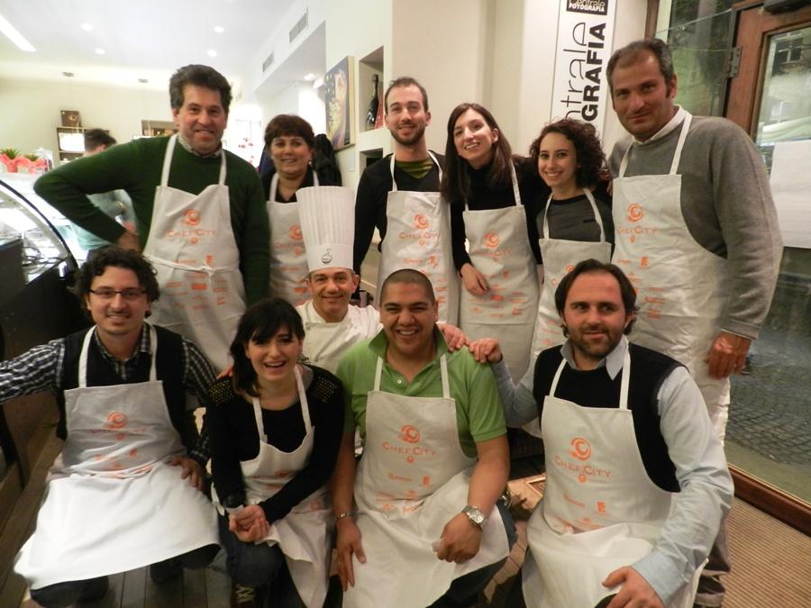 Il pubblico che si è aggiudicato le ambite parananze di Chef in the City Cake Edition
