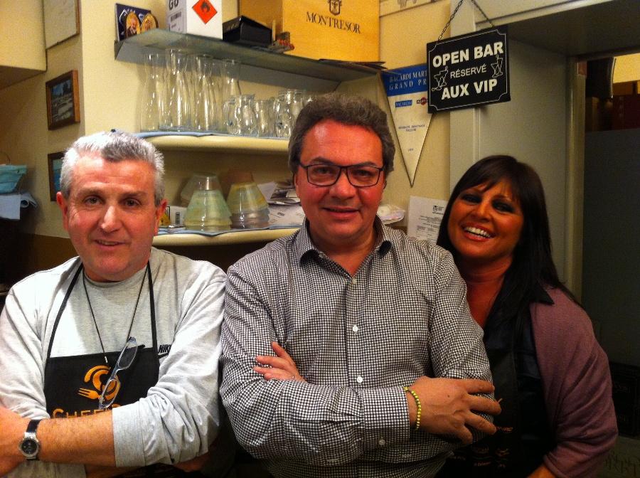 Luigi Orsini, Filippo Ravagli, de La Taverna dei Pescatori e Romina Bucchi - Chef in the City 2013