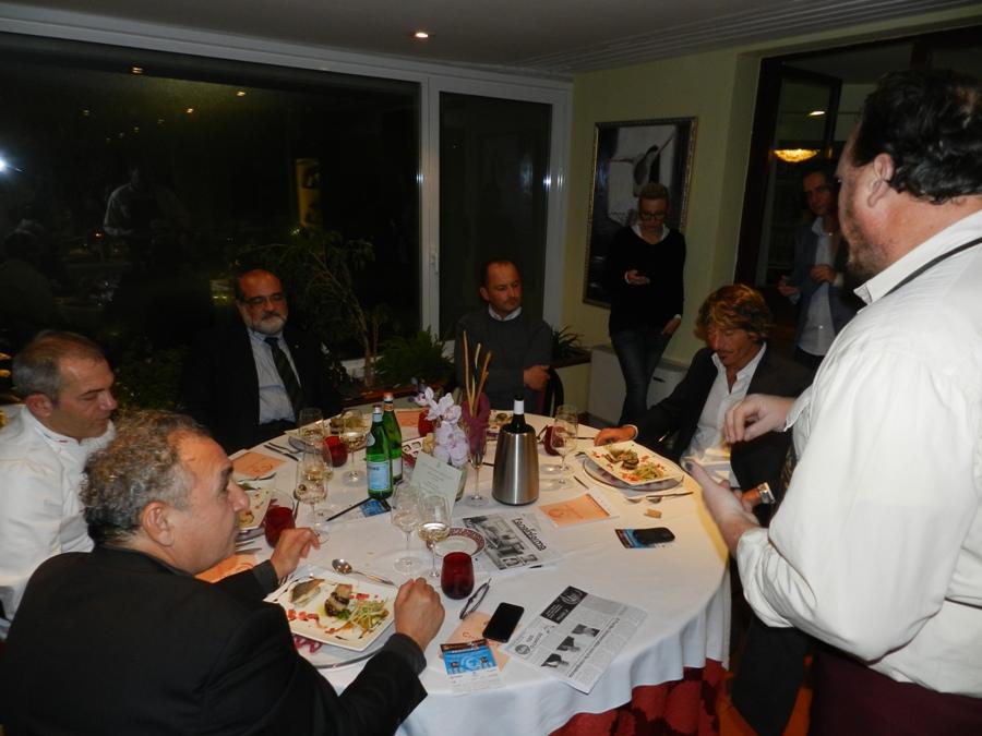 Antonino Palella spiega la sua ricetta ai giurati di Chef in the City 2013