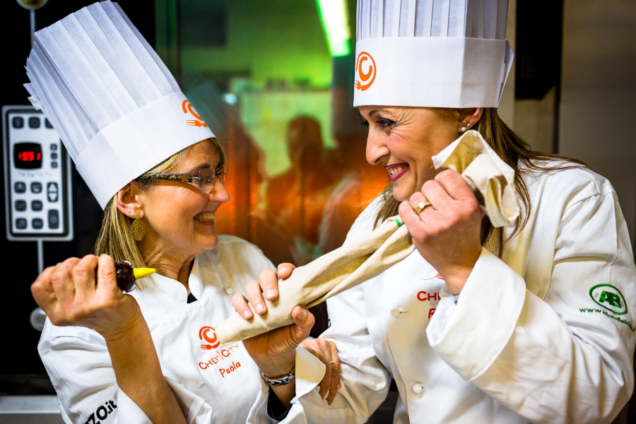 Paola Conti e Ramona Neri, concorrenti della Cake Edition di Chef in the City
