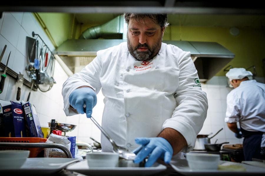 Francesco Battisti prepara il suo Scamone autunnale