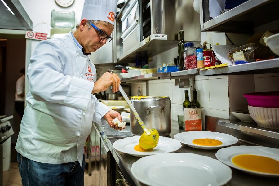 Giuseppe Burini prepara il suo Autunno spumeggiante