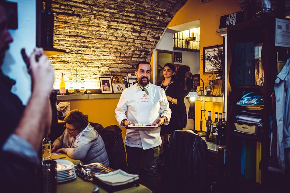 Umberto presenta il suo piatto