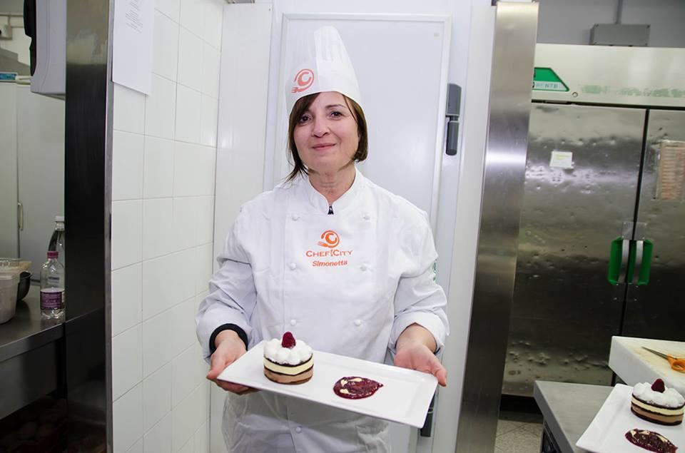 Simonetta ed il suo Semifreddo ai cioccolati con lamponi